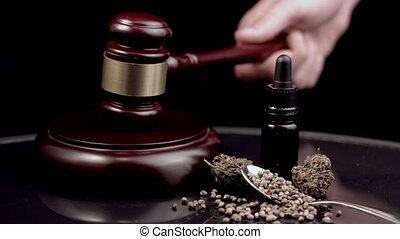 bírók, kender, árverezői kalapács