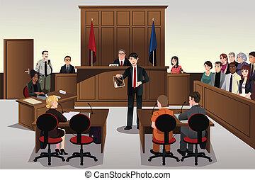 bíróság, színhely