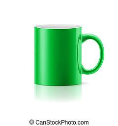 bögre, zöld white