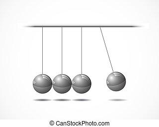 bölcső, kiegyensúlyozott, newton's labda
