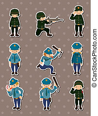 böllér, rendőrség, hadsereg