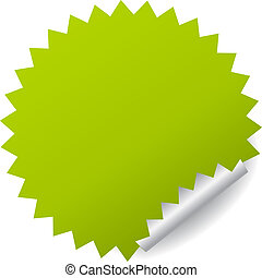 böllér, vektor, zöld