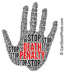 büntetés, abbahagy, jelkép, halál