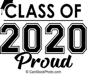 büszke, osztály, transzparens, 2020