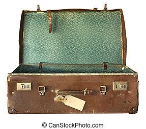 bőrönd, nyílik, szüret
