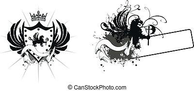 bőr, címertani, arms2, oroszlán