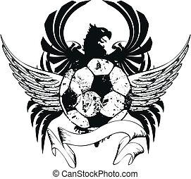 bőr, címertani, futball, fegyver, crest3