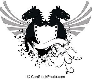 bőr, ló, 6, címertani, fegyver