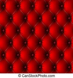 bőrhuzat, öreg, piros