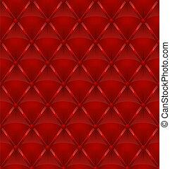 bőrhuzat, seamless, háttér, piros