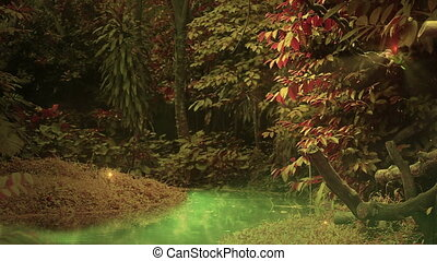 bűbájos, erdő, bukfenc