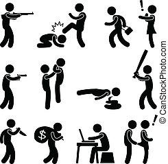bűncselekmény, gyilkos, terrorista, erőszak