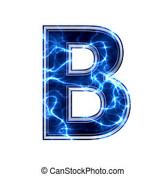 b betű, elektromos, -, háttér, levél, fehér, 3