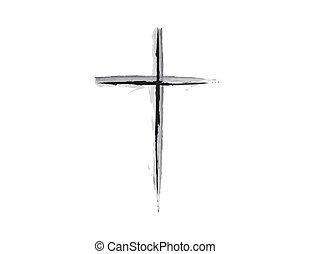 b betű, grunge, &, kereszt, tervezés, nyugat, vallásos
