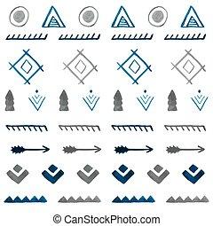 b betű, törzsi, pattern., seamless, kéz, vízfestmény, etnikai, húzott, elvont