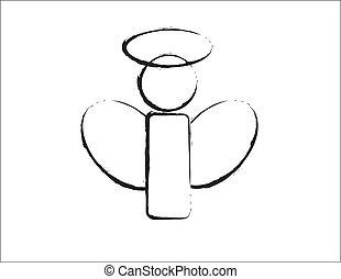 b betű, tervezés, nyugat, angyal, &