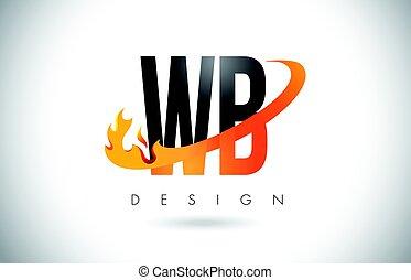 b betű, wb, fénylik, elbocsát, narancs, tervezés, nyugat, levél, jel, swoosh.