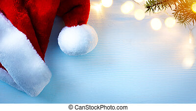 background;, fény, kalapok, fa, köszönés, szent, művészet, karácsonyi üdvözlőlap