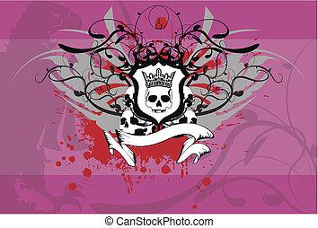 background6, címertani, koponya