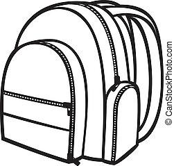 (backpack, táska, izbogis, bag), konzervál