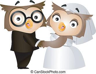 bagoly, esküvő