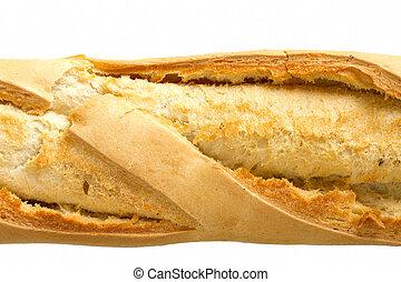baguette, kép, kérges, feláll sűrű