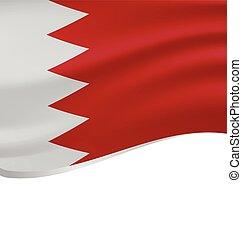 bahrain, lenget lobogó, fehér, elszigetelt