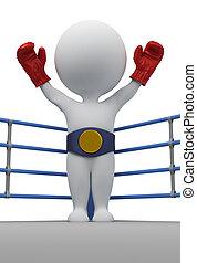 bajnok, emberek, -, bokszoló, kicsi, 3