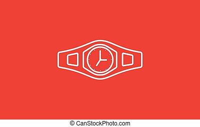 bajnok, vektor, graphic tervezés, jelkép, jel, ábra, öv, időmegállapítás, ikon, megvonalaz