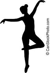 balerina, balett, árnykép