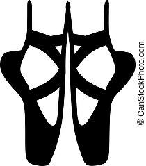 balerina, balett cipő