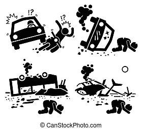 baleset, csapás, tragédia