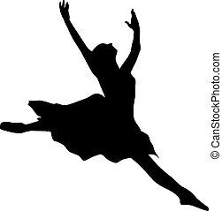 balett-táncos, árnykép
