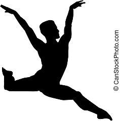 balett-táncos, hím