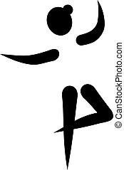 balett-táncos, pictogram