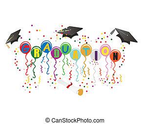 ballons, fokozatokra osztás, ábra, ünneplés
