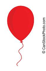 balloon, piros