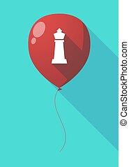 balloon, sakkjáték, alak, hosszú, árnyék, király