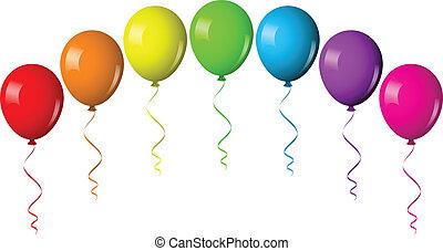 balloon, vektor, bolthajtás, ábra