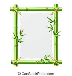 bambusz, dolgozat, keret, tiszta