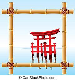 bambusz, keret