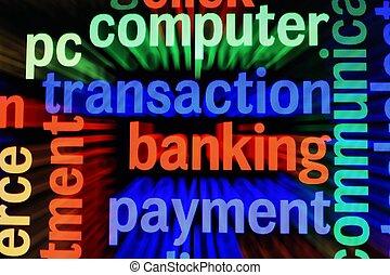bankügylet, lebonyolítás, fizetés