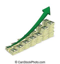 banknotes, pénz, felkelés, kazalba rak, ábra