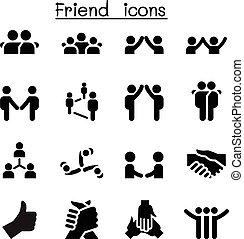 &, barát, rokonság, ikonok