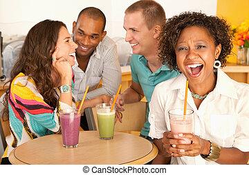 barátok, beszéd, csoport