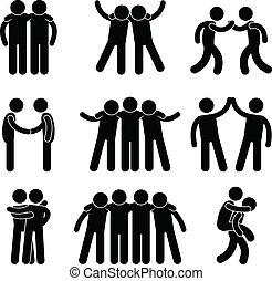 barátság, barát, rokonság, befog