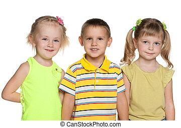 barátság, három gyerek