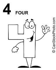 barátságos, 4, szám, körvonalazott