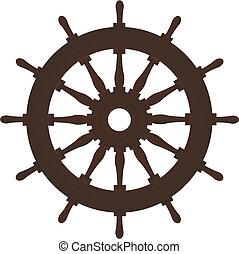 barna, öreg, vitorlázás, arcszín, kormánylapát, hajó