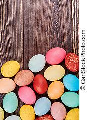 barna, ikra, húsvét, wood.
